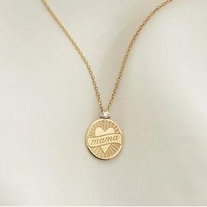 """Vrai & Oro Limited Edition 14k """"Mama"""" Pendant"""
